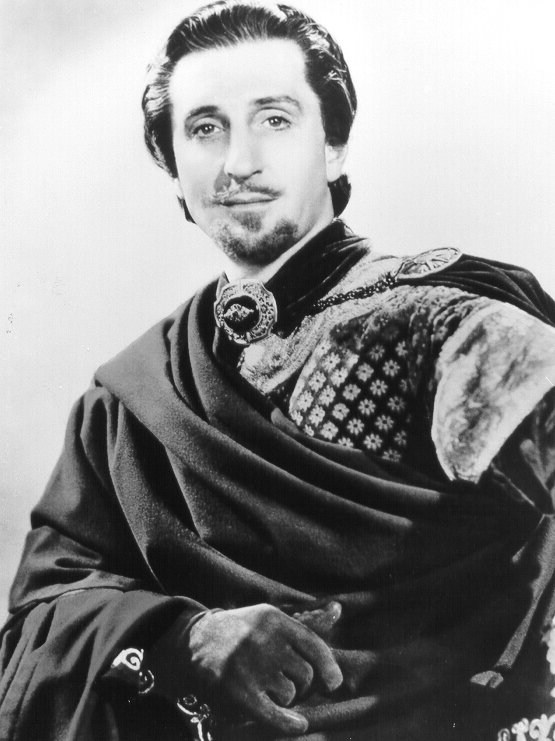 Basil Rathbone as Sir Guy of Gisbourne in The Adventures of Robin Hood, Classic Movie Actor, Michael Curtiz, William Keighley