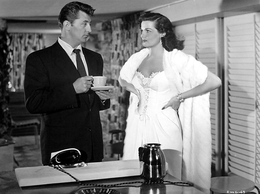 jane russell and robert mitchum, his kind of woman, classic movie star, john farrow