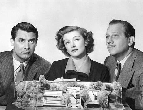 Cary Grant, Myrna Loy and Melvyn Douglas in Mr. Blandings Builds His Dream House, H.C. Potter