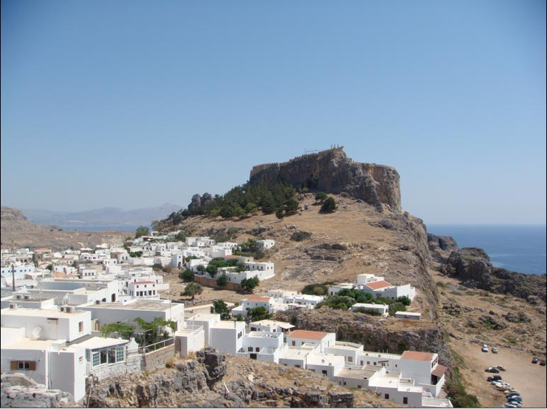 The Old Town of Lindos, The Guns of Navarone