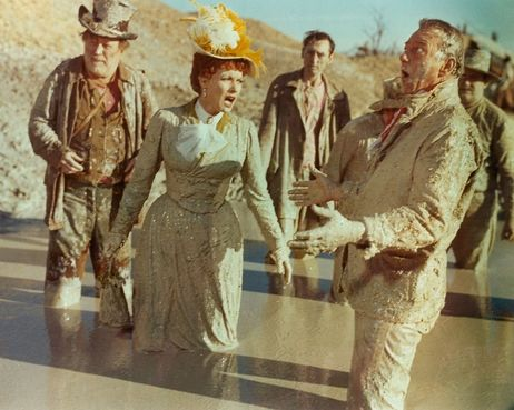 Maureen O'Hara and John Wayne in McLintock, director Andrew V. McLaglen