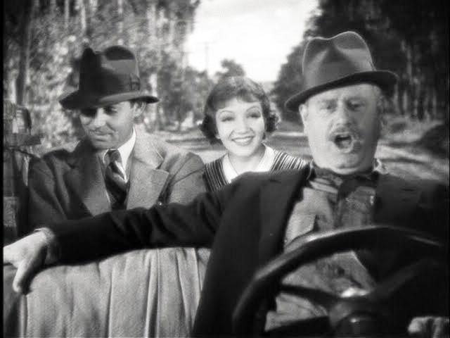 It Happened One Night, Alan Hale, Clark Gable, Claudette Colbert, Danker