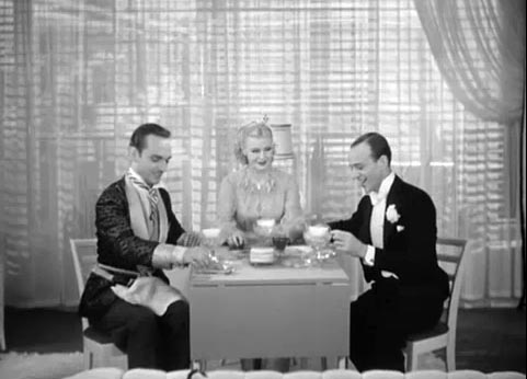 Erik Rhodes, Rudolfo Tonetti, Eric Blore, Ginger Rogers, Fred Astaire, The Gay Divorcee
