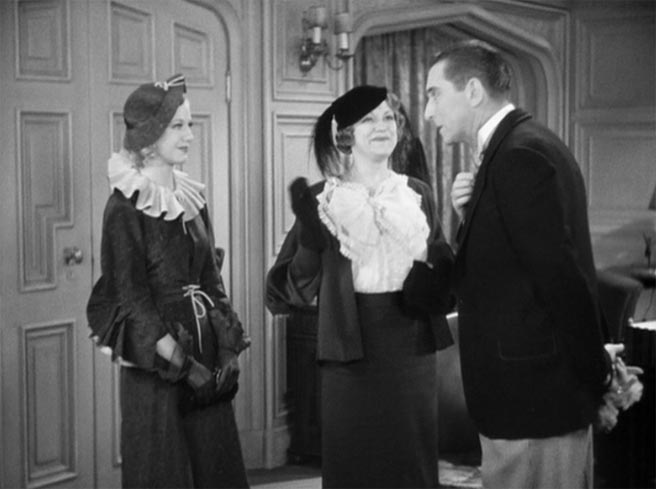 Alice Brady, Ginger Rogers and Edward Everett Horton in The Gay Divorcee