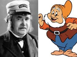 Otis Harlan as Happy in Disney's Snow White and the Seven Dwarfs