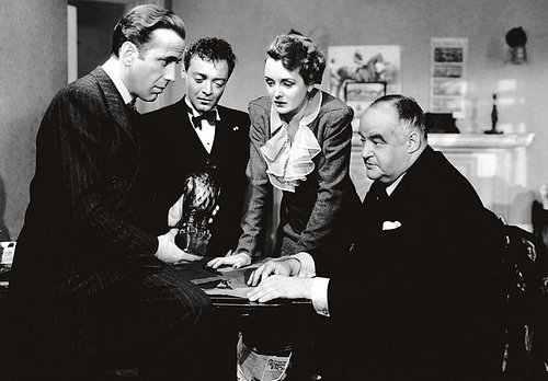 The Maltese Falcon, Humphrey Bogart, Peter Lorre, Mary Astor, Sidney Greenstreet