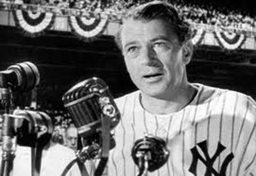 Gary Cooper in The Pride of the Yankees