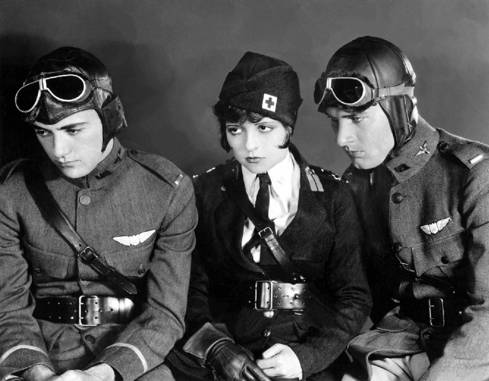 Charles 'Buddy' Rogers, Clara-Bow, Richard Arlen, Wings 1927