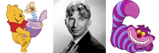 Sterling Holloway as Pooh Bear and Cheshire Cat