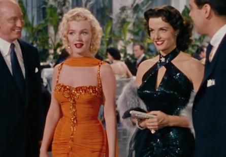 Marilyn Monroe and Jane Russell in Gentlemen Prefer Blondes