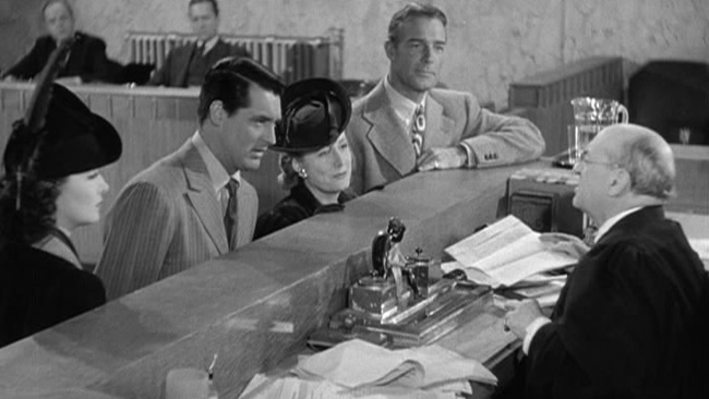 Photo: Granville Bates as Judge Bryson in My Favorite Wife with Gail Patrick, Cary Grant, Irene Dunne and Randolph Scott