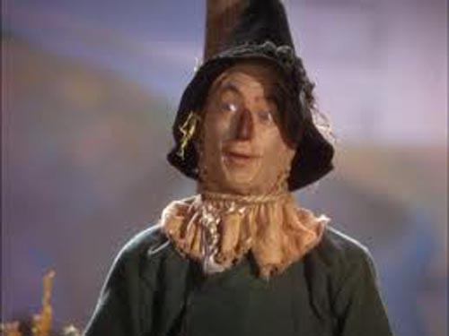 Ray Bolger as The Scarecrow in The Wizard of Oz