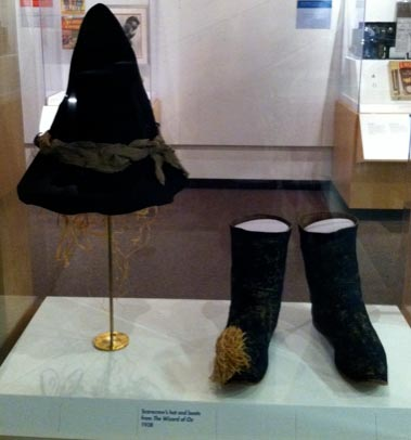 Smithsonian Institute National Museum of American History, Scarecrow Hat and Boots from The Wizard of Oz