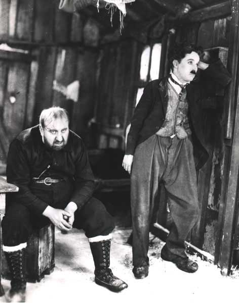 Charlie Chaplin and Mack Swain in The Gold Rush 1925