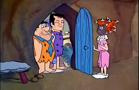 "Stony Curtis (Tony Curtis) and Wilma and Fred, The Flintstones ""The Return of Stony Curtis"""