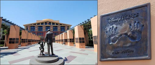 Disney Legends Plaza and Handprints Kurt Russell