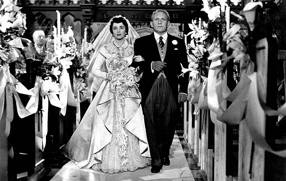 Elizabeth Taylor and Spencer Tracy in the original Father of the Bride (Pandro S. Berman producer, Vincente Minnelli director, 1950)