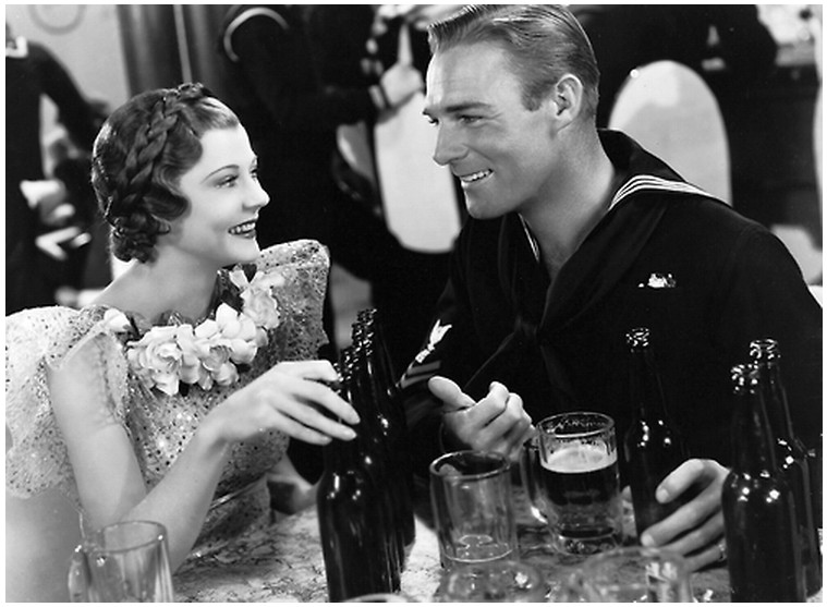 Harriet Hilliard (Harriet Nelson) and Randolph Scott in Follow the Fleet (Pandro S. Berman producer, Mark Sandrich director, 1936