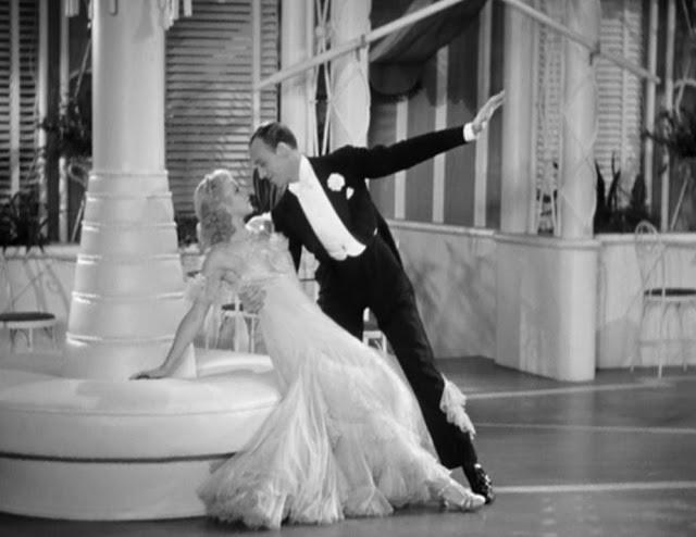 "Fred Astaire and Ginger Rogers, dancing to Cole Porter's ""Night and Day""  in The Gay Divorcee (Pandro S. Berman producer, Mark Sandrich director, 1934)"