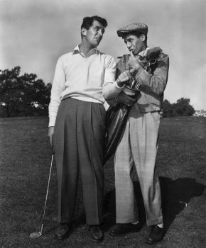 Jerry Lewis as Harvey Miller Jr with Dean Martin as Joe Anthony  in The Caddy