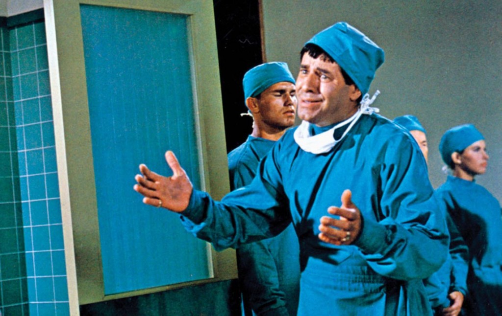 Jerry Lewis as Jerome Littlefield in The Disordery Orderly (1964, Frank Tashlin director)
