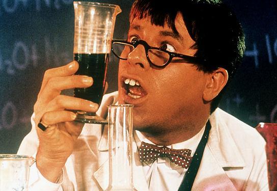 Jerry Lewis as Professor Julius Kelp in The Nutty Professor