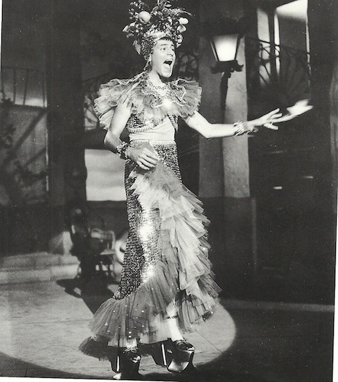Jerry Lewis as Carmen Miranda in Scared Stiff