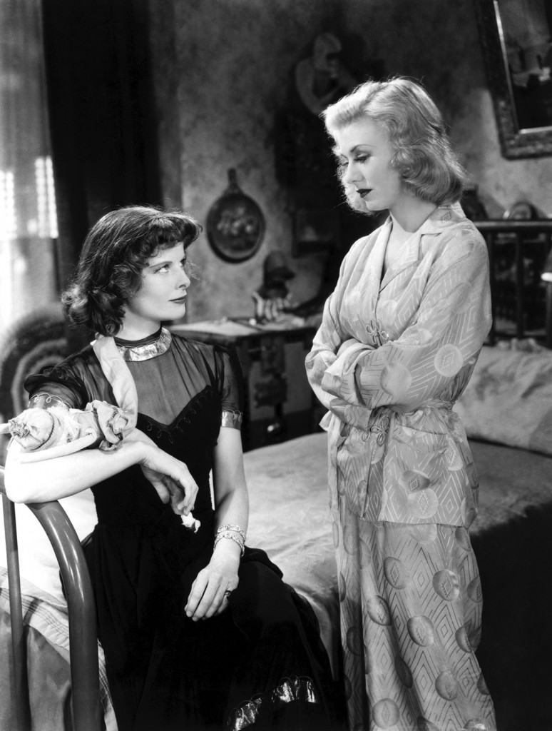 Katharine Hepburn and Ginger Rogers in Stage Door (Pandro S. Berman producer, Gregory La Cava director, 1937)