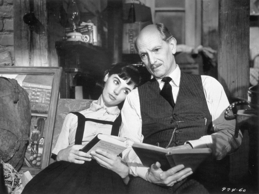 millie perkins and joseph schildkraut The Diary of Anne Frank