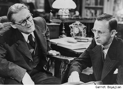 Lionel Barrymore and Charles Lane in Frank Capra's You Can't Take It With You