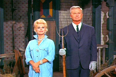 Eddie Albert and Eva Gabor on Green Acres
