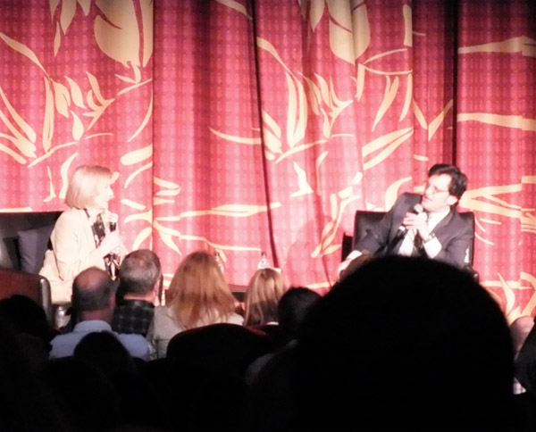 Eva Marie Saint and Ben Mankiewicz at On the Waterfront Screening TCMFF