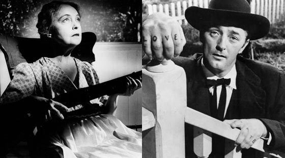 Lillian Gish and Robert Mitchum in The Night of the Hunter