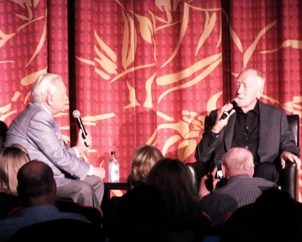 Robert Osborne interview with Max Von Sydow TCMFF Three Days of the Condor