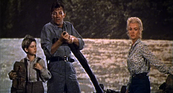 Tommy Rettig, Robert Mitchum, Marilyn Monroe, River of No Return