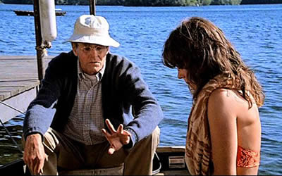 Jane Fonda and Henry Fonda in On Golden Pond
