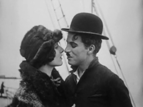 Georgia Hale and Charlie Chaplin in The Gold Rush