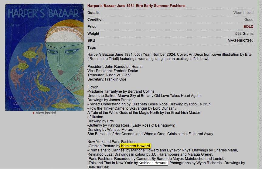 Kathleen Howard as Harper Bazaar's fashion editor