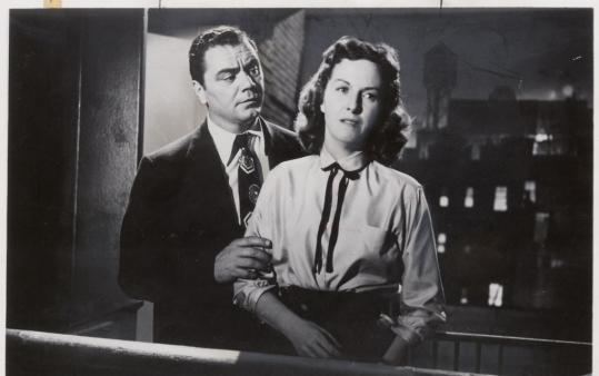 Ernest Borgnine as Marty and Betsy Blair as Clara in the film, Marty