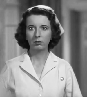 Mary Wickes as Nurse Preen in The Man Who Came To Dinner
