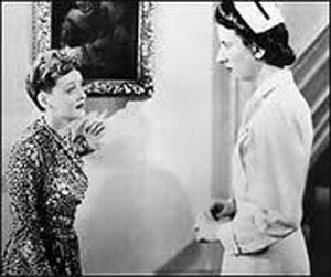 Bette Davis and Mary Wickes in Now Voyager