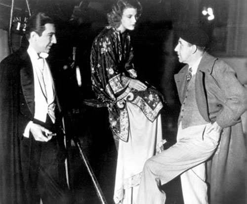 Bela Lugosi, Helen Chandler and Tod Browning on the set of Dracula (1931)