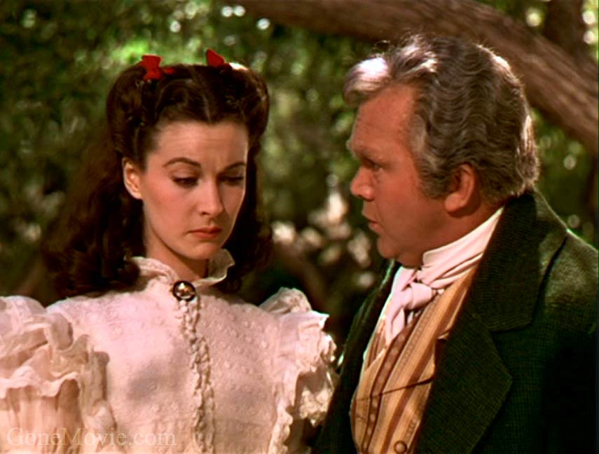 Thomas Mitchell with Vivien Leigh in Gone with the Wind