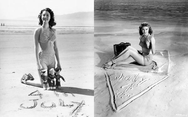 Ava Gardner July 4th at beach