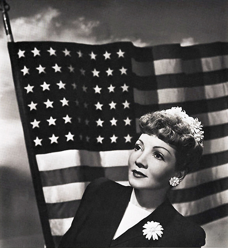Claudette Colbert July 4