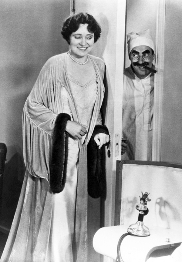 Margaret Dumont and Groucho Marx in Duck Soup