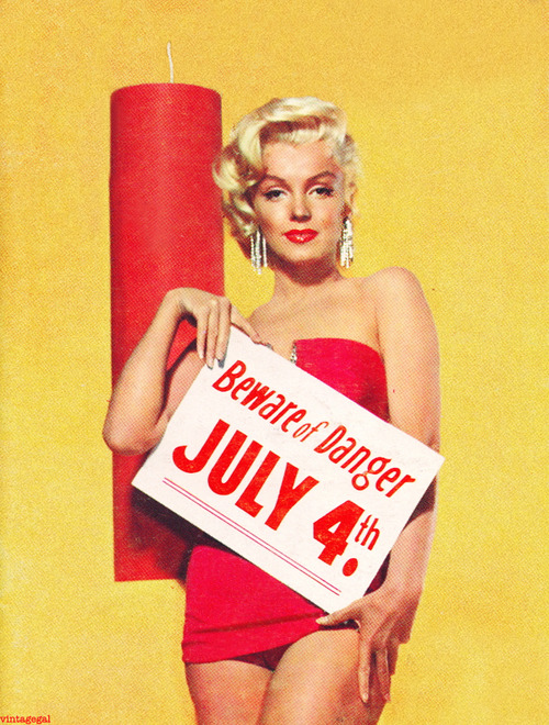 Marilyn Monroe July 4th with Firecracker