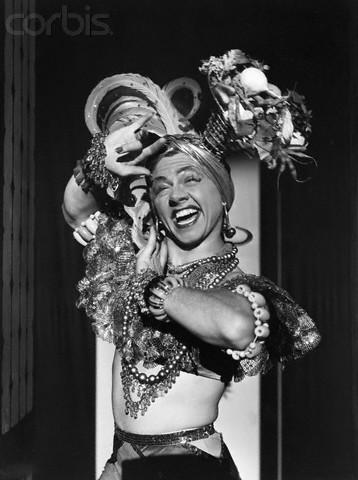 Mickey Rooney dressed as Carmen Miranda