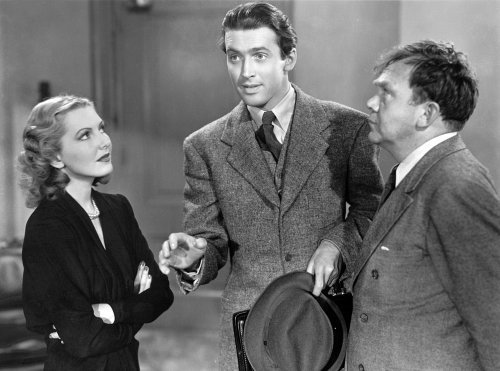 Thomas Mitchell with Jean Arthur and Jimmy Stewart in Mr. Smith Goes to Washington