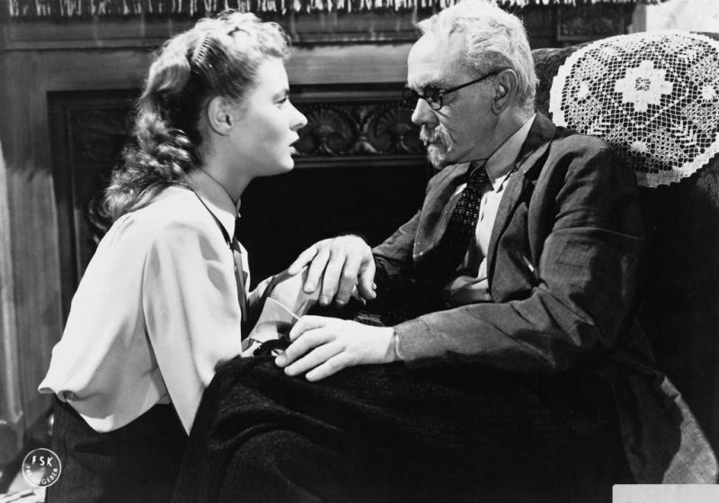 Ingrid Bergman and Michael Chekhov in Hitchcock's Spellbound